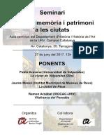 Seminari Historia, Memòria, Patrimoni