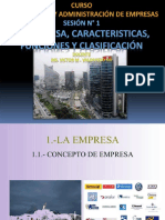 Sesión N 1 - La Empresa, elementos, funciones, clasificacion.pptx