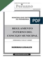 Reglamento Interno del Concejo Municipal.