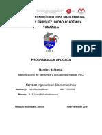 Identificacion de sensores y actuadores para el PLC.docx