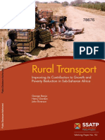 Rural Transport Improving Its Contribution to Growth