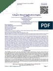 Category Based Application Engine