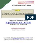 TEMA 11- EL ESQUEMA CORPORAL. EL PROCESO DE LATERALIZACIÓN. DESARROLLO DE LAS CAPACIDADES PERCEPTIVO- MOTRICES.