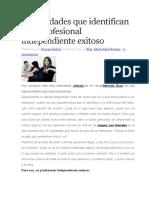 69443615 Cualidades Que Identifican a Un Profesional Independiente Exitoso