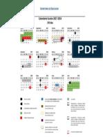Calendarios Escolares Preautorizados SEG Ciclo 2017-2018