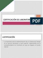Certificación de Laboratorio