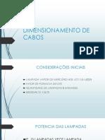 Dimensionamento de Cabos