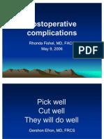 PostoperativeComplicationsFishel051506