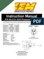 30-2131-XXX Brass Pressure Sensor