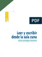 Colección Currículo I - Nº 4 Leer y Escribir Desde La Sala Cuna
