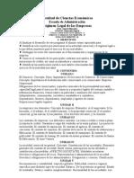 PROGRAMA DE RÉGIMEN LEGAL DE LAS EMPRESAS