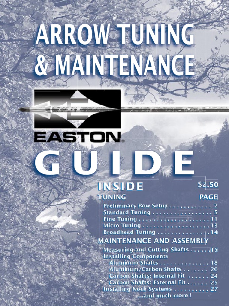 Easton arrow tuning & maintenance guide, archery ... - Issuu