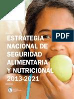 Estrategia Nacional de Seguridad Alimenaria y Nutricional