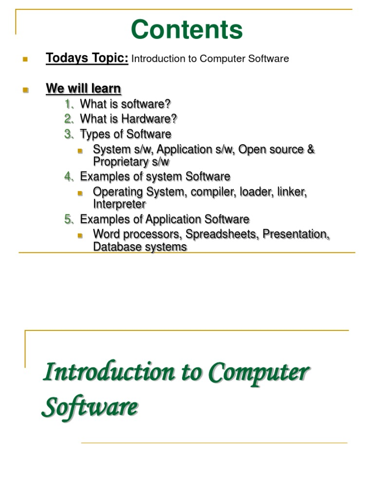 3 Introduction to Computer Software | Operating System