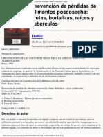 FAO Prevencion de Perdidas de Alimentos Poscosecha