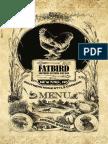 Fatbird dinner and drinks menu