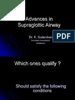 Advancement in Supra-glottic Airways