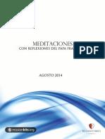 Meditaciones Con Reflexiones Del Papa Francisco Agosto 2014