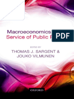 Thomas J. Sargent, Jouko Vilmunen Macroeconomics at the Service of Public Policy