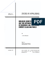 Nonlinear Geometric, Material and Time dependent analysis of reinforced and prestressed concrete slabs and panels