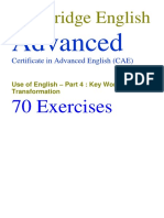 UoE P4 70 Exercises With Answers