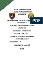 Informe Del So3 Pnp Tovar Chahuaylacc Ederson