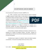 Ejemplo Carta Aceptación Comisario
