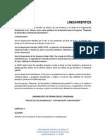 Lineamientos Proyectos de Desarrollo y Contribucion Humanitaria