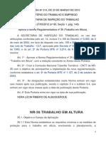 03 - PORTARIA Nº 313 Trabalho Em Altura NR 35