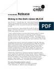 Media Release - Thunder Bay Dining in the Dark in Support of CNIB