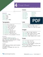 Bootstrap 4 Cheat Sheet 10v400 Alpha6