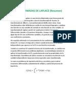Transformadas de Laplace - Clase Virtual Dos Resumen