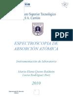 Espectroscopia de Absorción Atomica