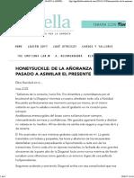 Honeysuckle_ de La Añoranza Del Pasado a Asimilar El Presente - Terapias Florales