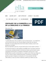 Centaury_ de La Sumisión a La Libertad, De La Debilidad a La Firmeza - Terapias Florales