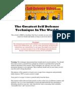 97769 the Greatest Self Defense Technique in the World