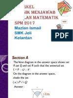 Teknik Matematik SPM