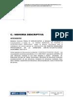 c Memoria Descriptiva