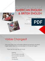American English x British English