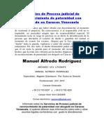 Servicios de Proceso Judicial de Reconocimiento de Paternidad Con Abogado en Caracas Venezuela