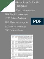 6.1 Las Crisis Financieras