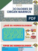 Hidrocoloides de Origen Marinos