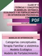 Clase Nº 12 Modelos Sistémico y Ecológico en Intervención Psicosocial Comunitaria