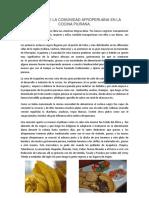 Aportes de La Comunidad Afroperuana en La Cocina Piurana