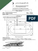 Examen de Fin de Formation 2010 Pratique Gros Oeuvre Variante 1