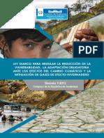 Ley Marco Vulnerabilidad y Cambio Climatico 2013