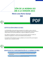 Transición ISO 9001 2015 Scribd