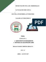 COEFICIENTE DE ROZAMIENTO ESTÁTICO AUTOMOTRIZ