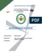 INFORME DE DESHIDRATACION DE FRUTAS (UVA E AGUAYMANTO)