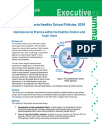 Alberta Health Services report on healthy school policies